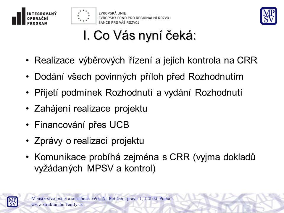 Ministerstvo práce a sociálních věcí, Na Poříčním právu 1, 128 00 Praha 2 www.strukturalni-fondy.cz II.