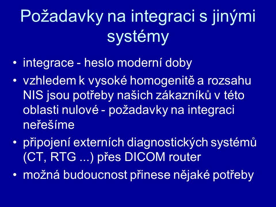 Požadavky na integraci s jinými systémy integrace - heslo moderní doby vzhledem k vysoké homogenitě a rozsahu NIS jsou potřeby našich zákazníků v této