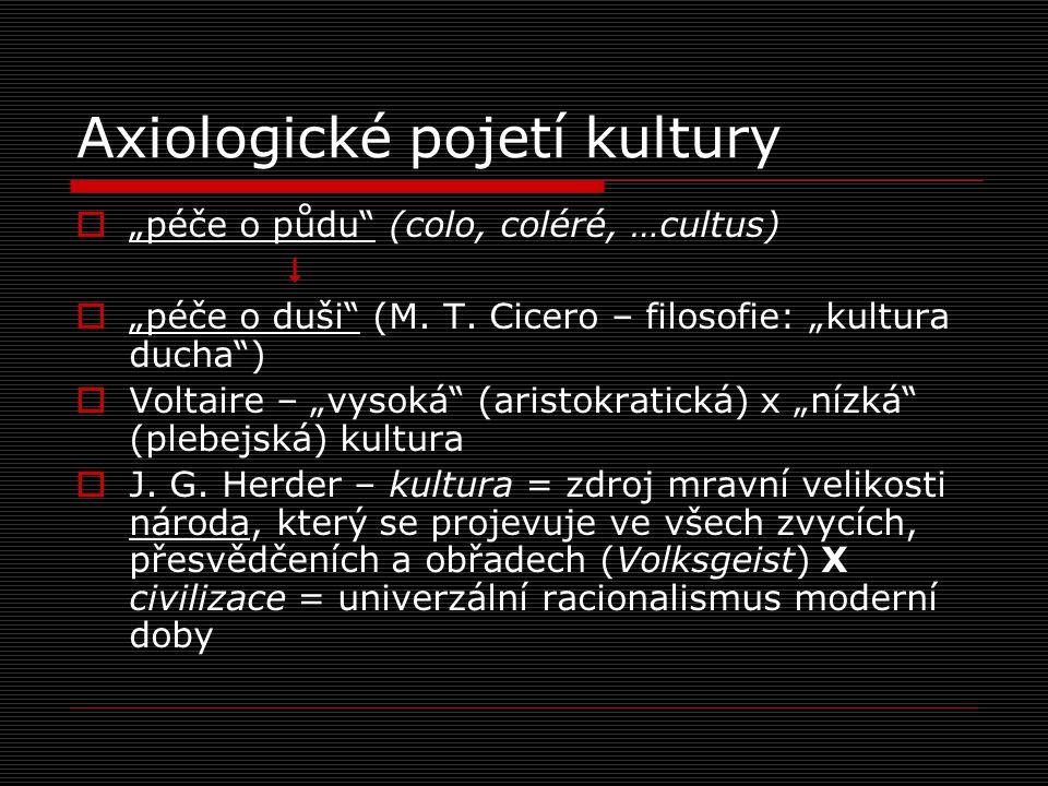 """Antropologické pojetí kultury  Pojem """"kultura neodkazuje ke sféře pozitivních hodnot  Na půdě sociální a kulturní antropologie byl tento pojem poprvé použit v kontextu evolucionismu (E."""