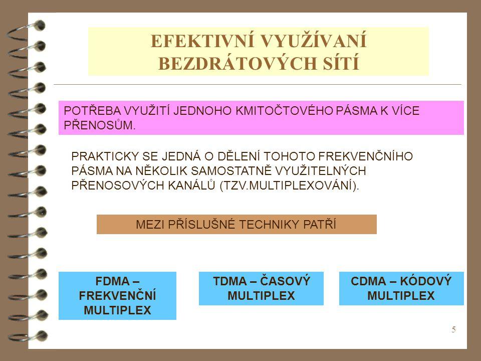 46 OTÁZKY K OPAKOVÁNÍ 4 VYSVĚTLETE POJEM TECHNIKY MULTIPLEXOVÁNÍ 4 VYSVĚTLETE PRINCIP FREKVENČNÍHO MULTIPLEXU 4 VYSVĚTLETE PRINCIP ČASOVÉHO MULTIPLEXU 4 VYSVĚTLETE PRINCIP KÓDOVÉHO MULTIPLEXU 4 VYSVĚTLETE PRINCIP VLNOVÉHO MULTIPLEXU.