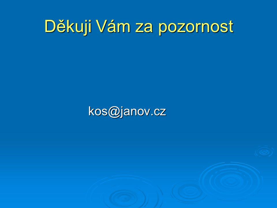 Děkuji Vám za pozornost kos@janov.cz kos@janov.cz