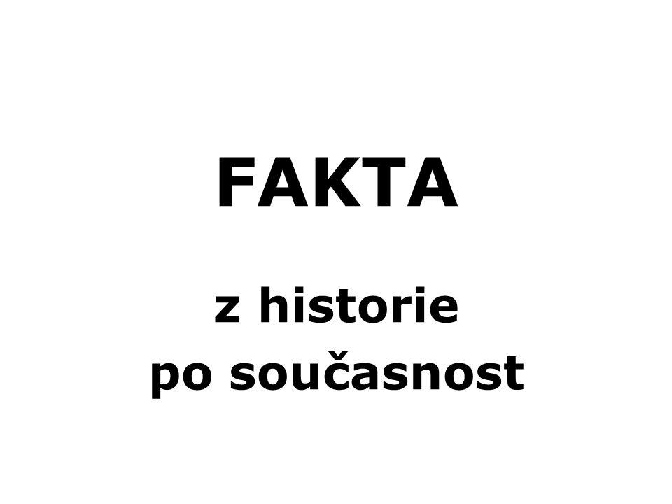 FAKTA z historie po současnost