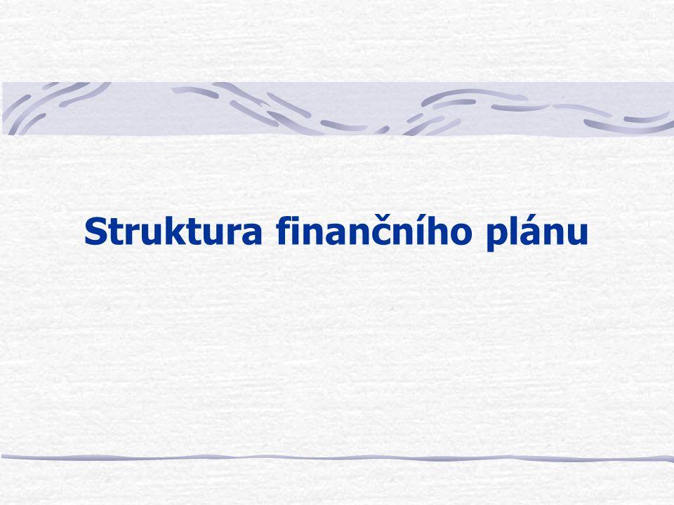 Struktura finančního plánu
