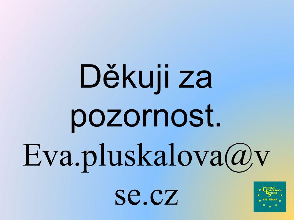 Děkuji za pozornost. Eva.pluskalova@v se.cz