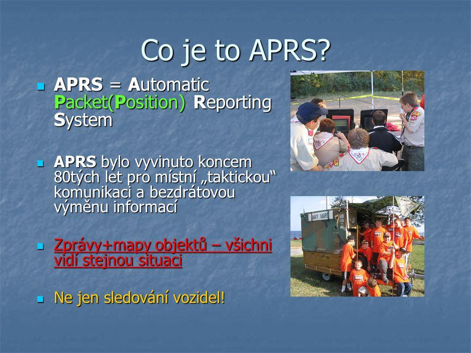 """Příklady APRS stanic (obousměrná verze) APRS je určená pro realtime přenos informací, zejména tedy """"obousměrnou now APRStt"""