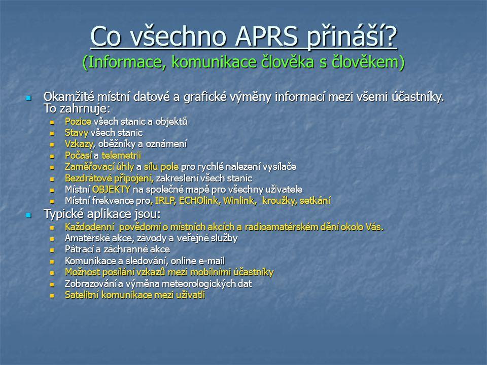 APRS je o informacích, není to jen sledování!!.Voice Alert.