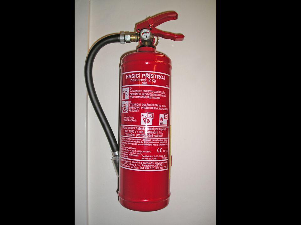 Vybavení datového centra10 Požární bezpečnost – hasičák stěna