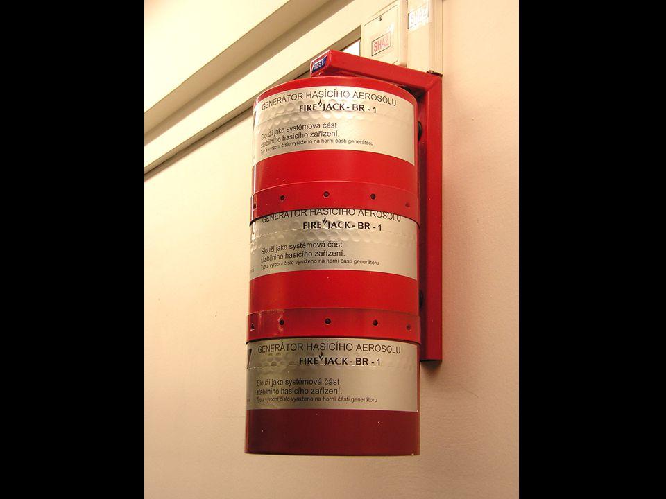 Vybavení datového centra14 Požární bezpečnost – Gener. sál