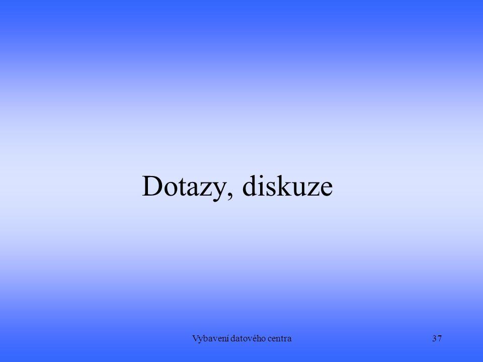 Vybavení datového centra37 Dotazy, diskuze