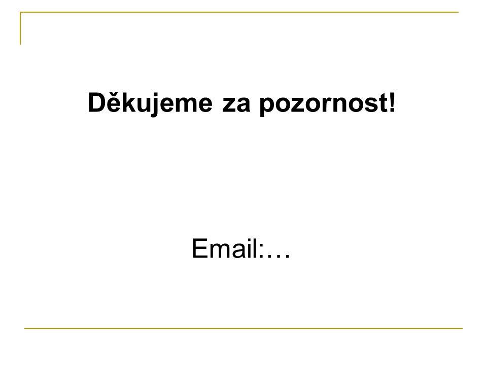 Děkujeme za pozornost! Email:…