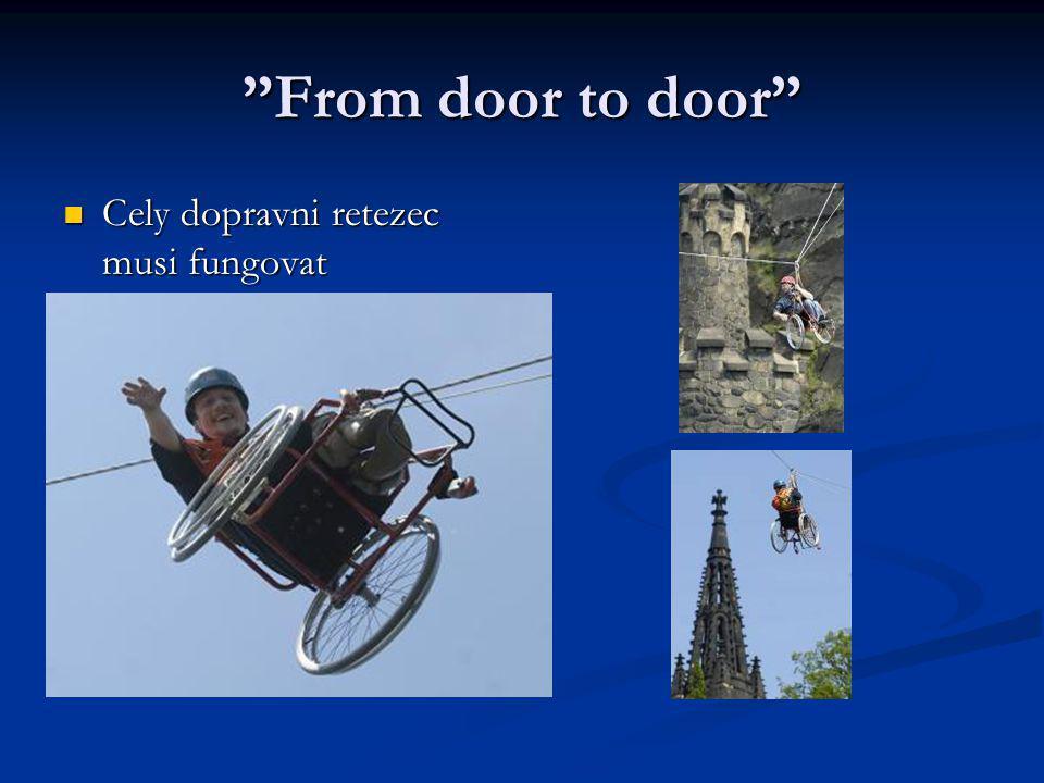 """""""From door to door"""" Cely dopravni retezec musi fungovat Cely dopravni retezec musi fungovat"""