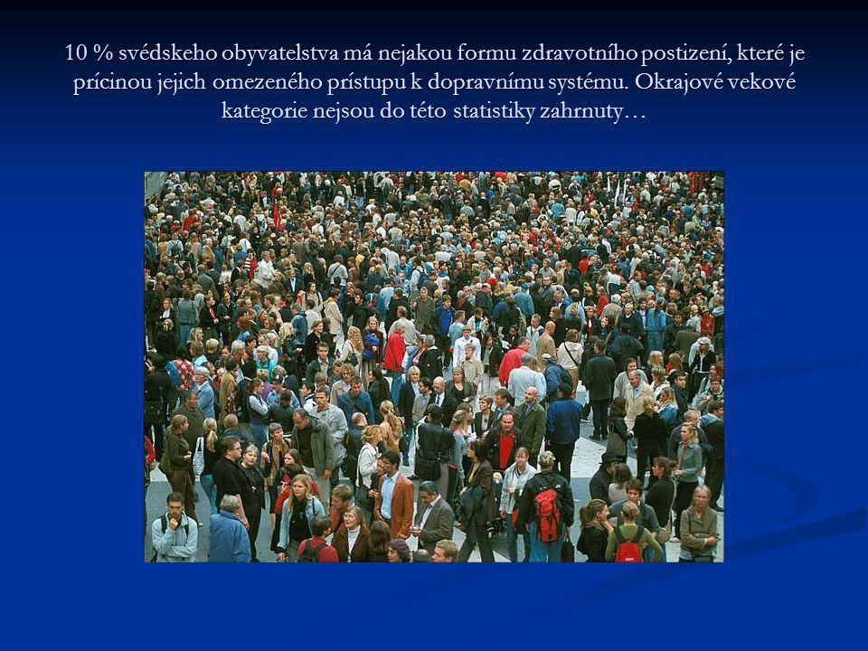 10 % svédskeho obyvatelstva má nejakou formu zdravotního postizení, které je prícinou jejich omezeného prístupu k dopravnímu systému. Okrajové vekové