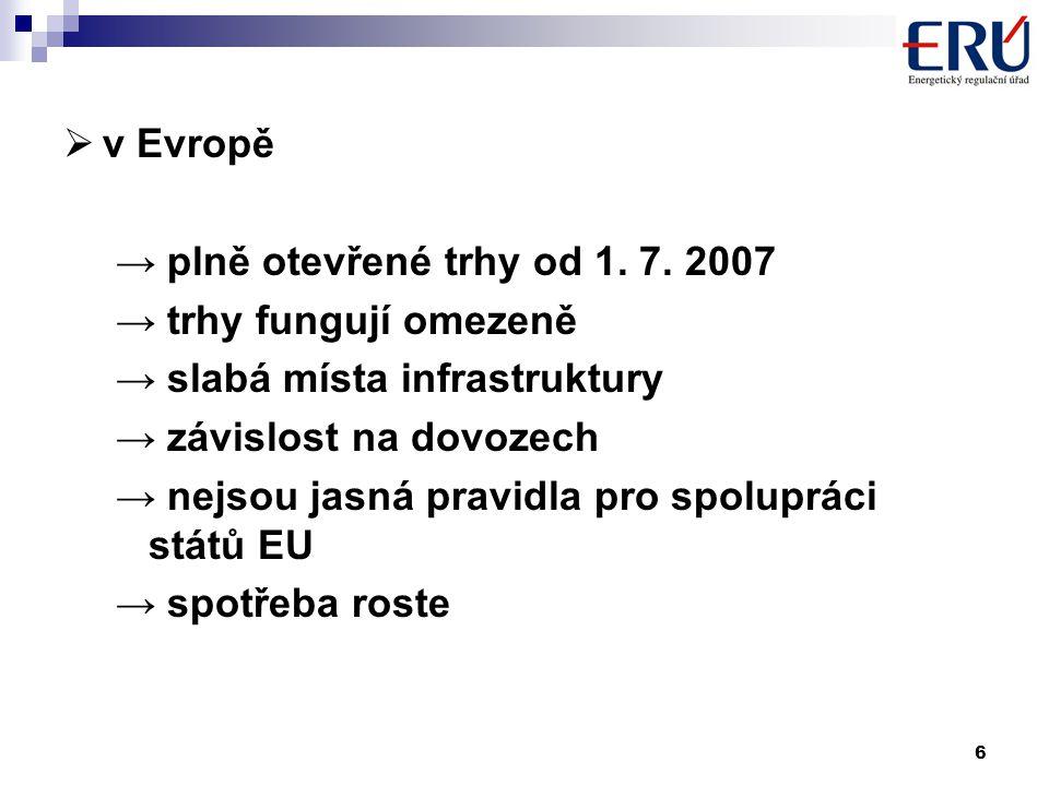 6  v Evropě → plně otevřené trhy od 1. 7.