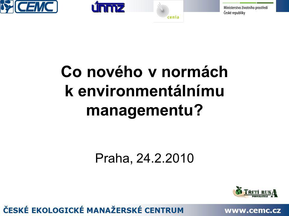Co nového v normách k environmentálnímu managementu.