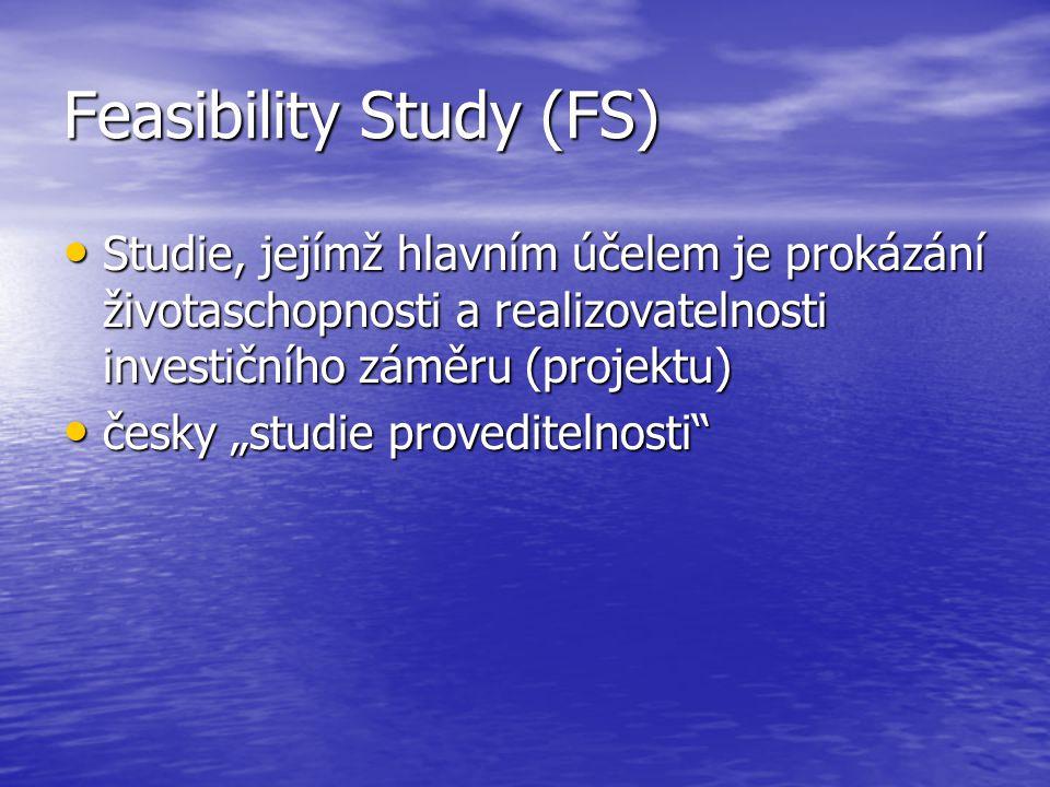 Příklad obsahu FS 1.Současný stav a historie projektu 2.