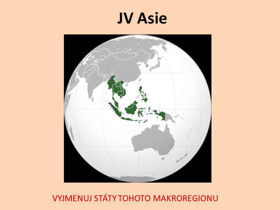Státy jihovýchodní Asie Brunej Myanmar (dříve Barma) Kambodža Východní Timor (někdy řazen do Oceánie) Indonésie Laos Malajsie Filipíny Singapur Thajsko (dříve Siam) Vietnam Často přiřazeny státy: Bangladéš, Jižní Indie, Šrí Lanka, Maledivy, jih Číny