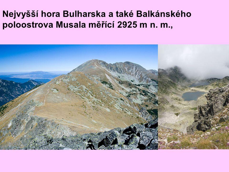 Nejvyšší hora Bulharska a také Balkánského poloostrova Musala měřící 2925 m n. m.,