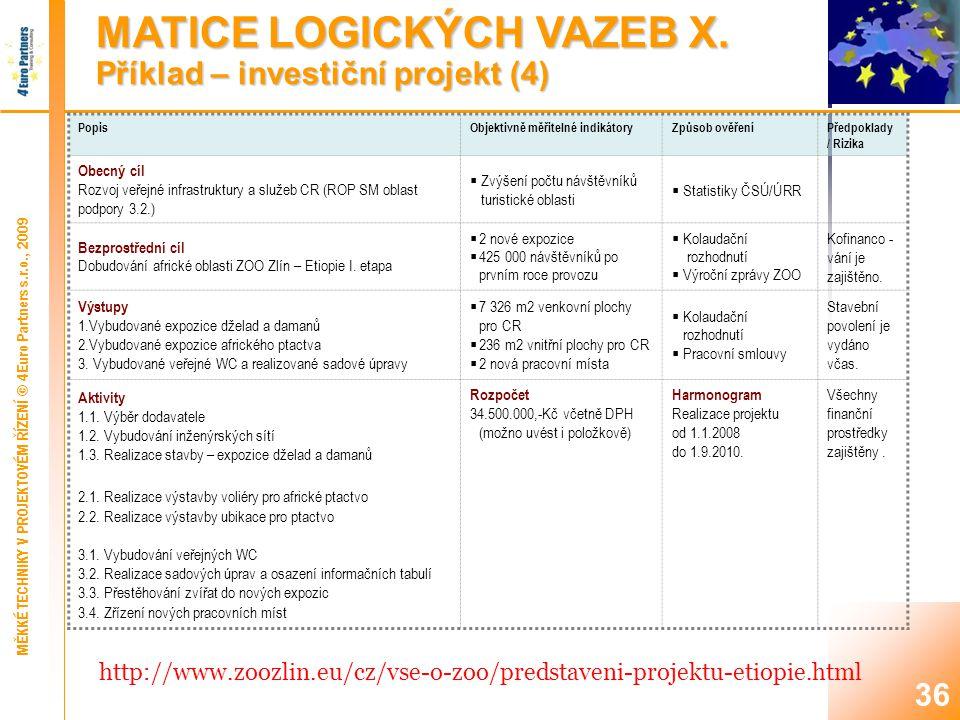 36 MATICE LOGICKÝCH VAZEB X.