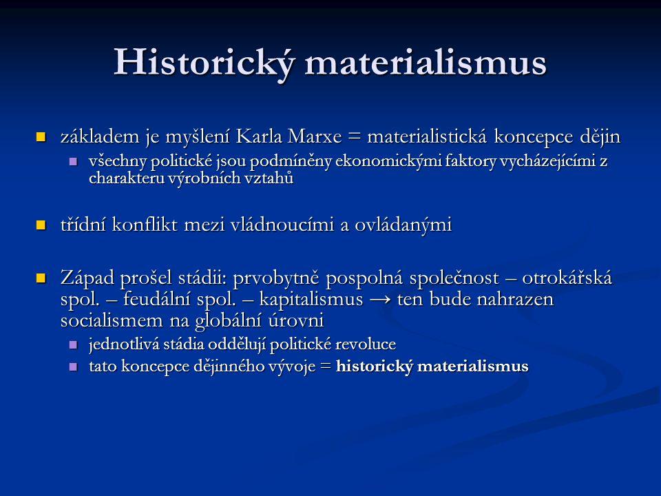 Historický materialismus základem je myšlení Karla Marxe = materialistická koncepce dějin základem je myšlení Karla Marxe = materialistická koncepce d