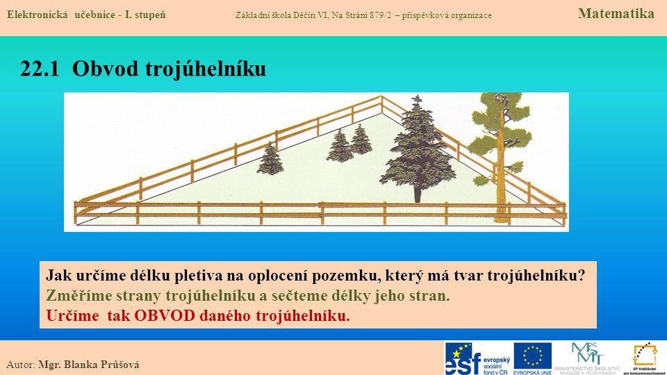 22.1 Obvod trojúhelníku Elektronická učebnice - I.
