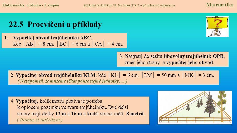 22.6 Něco navíc pro šikovné Elektronická učebnice - I.