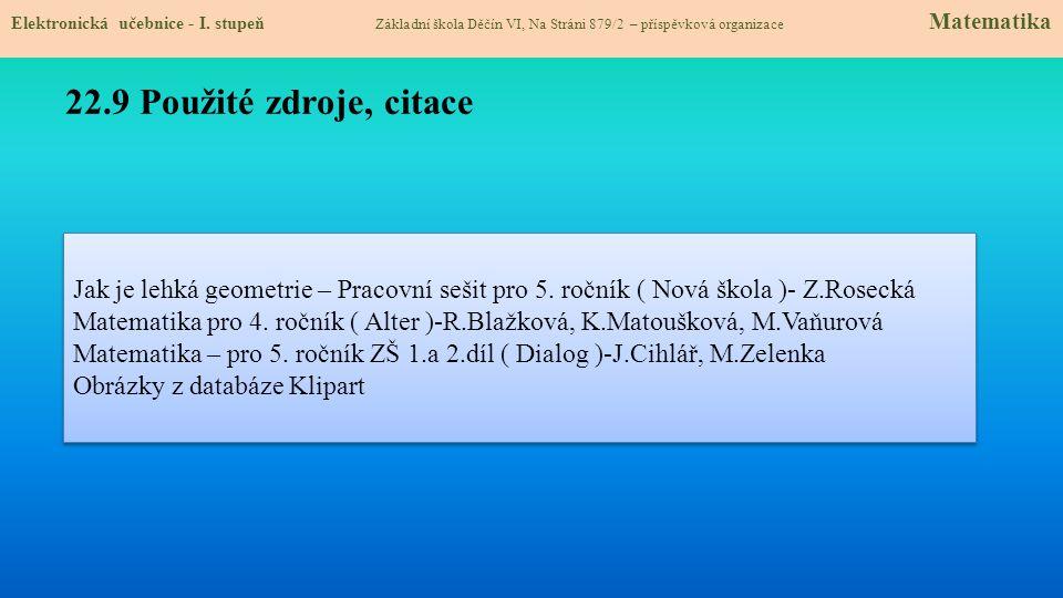 Jak je lehká geometrie – Pracovní sešit pro 5.ročník ( Nová škola )- Z.Rosecká Matematika pro 4.