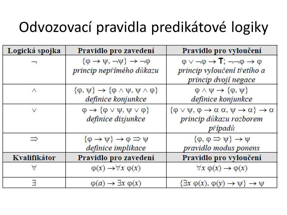 Odvozovací pravidla predikátové logiky