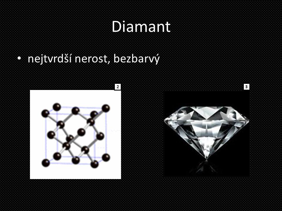 Diamant nejtvrdší nerost, bezbarvý 23