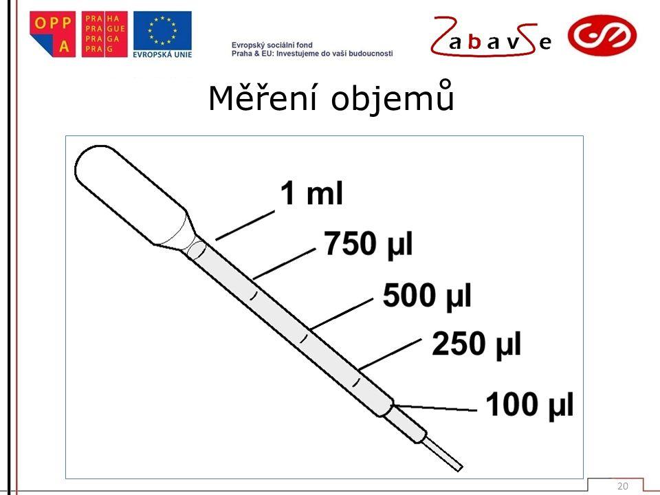 Měření objemů 20