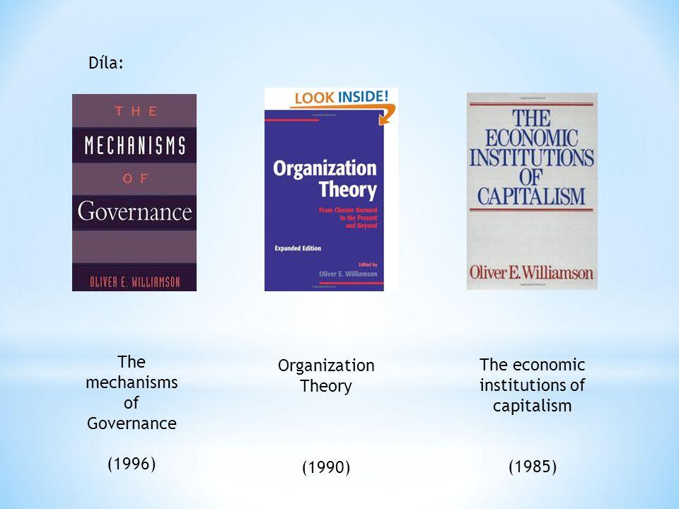 Zdroje: http://en.wikipedia.org/wiki/Oliver_E._Williamson http://ciks.vse.cz/Edice/nobel/Williamson/default.aspx http://groups.haas.berkeley.edu/bpp/oew/ http://www.nobelprize.org/nobel_prizes/economics/laureates /2009/williamson.html