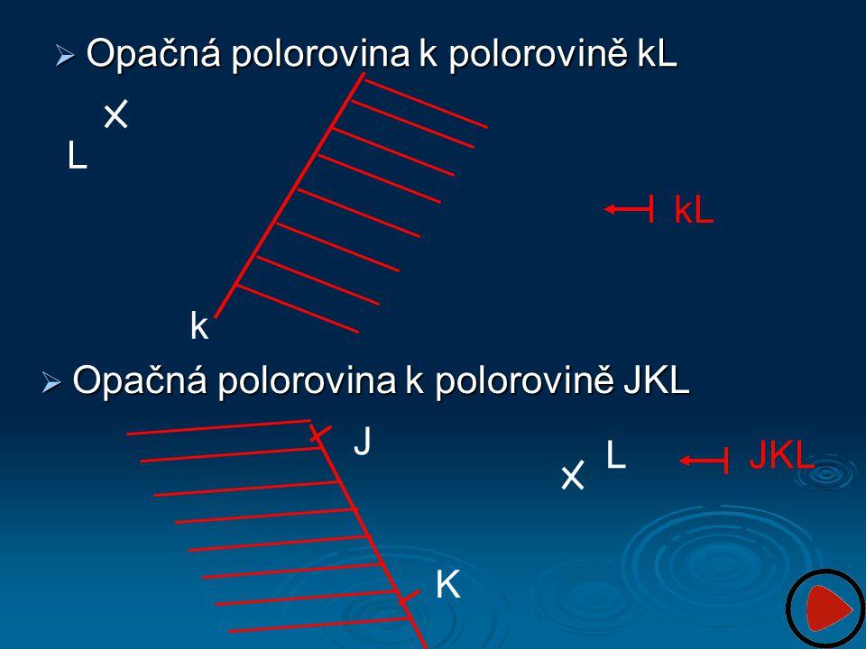  Opačná polorovina k polorovině kL L k J K LJKL  Opačná polorovina k polorovině JKL kL