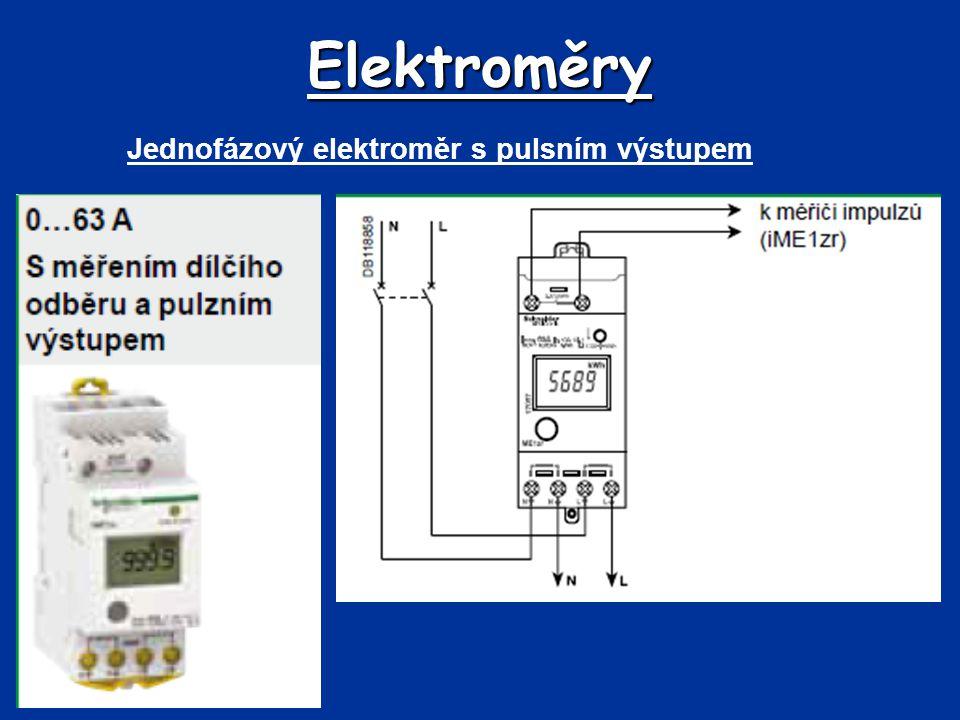 Elektroměry Jednofázový elektroměr s pulsním výstupem