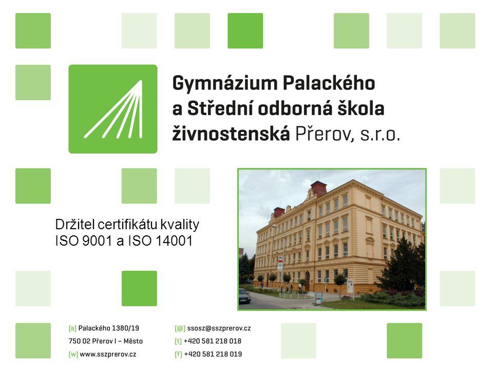 Držitel certifikátu kvality ISO 9001 a ISO 14001