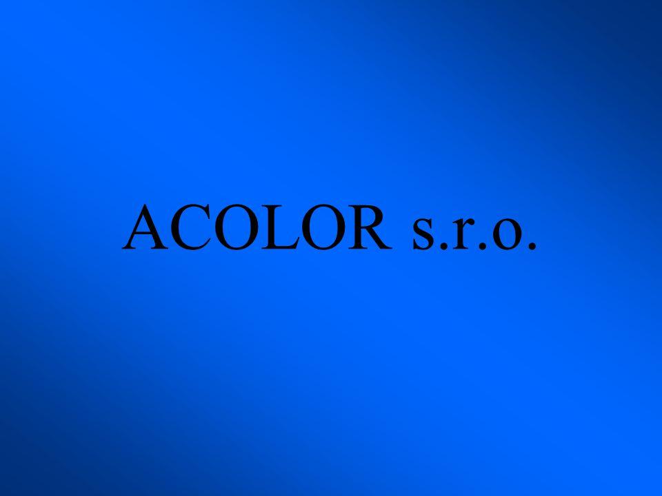 Společnost Acolor s.r.o.byla založena roku 1995.