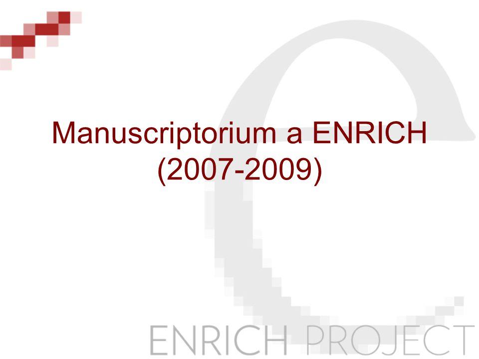Manuscriptorium a ENRICH (2007-2009)