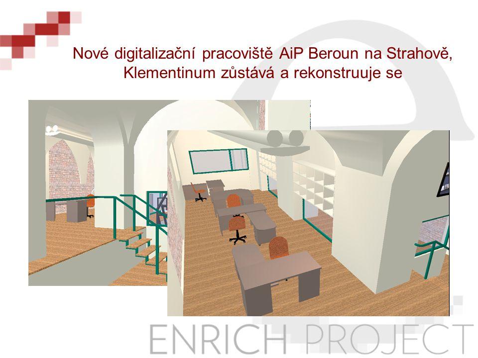 Nové digitalizační pracoviště AiP Beroun na Strahově, Klementinum zůstává a rekonstruuje se