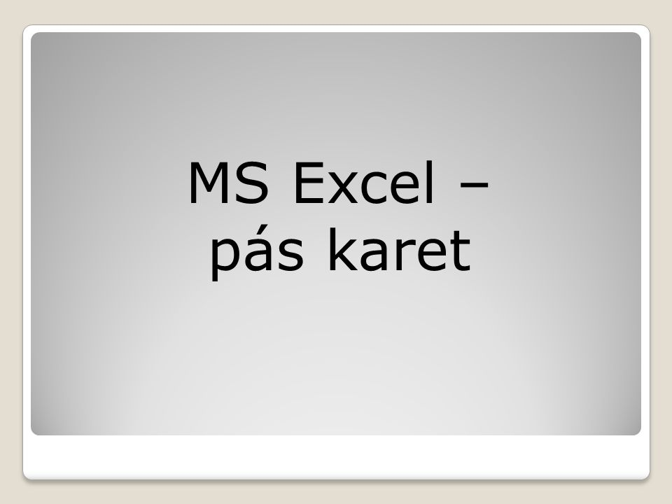 Úvod Po spuštění tabulkového procesoru MS Excel se otevře nový sešit, který bude obsahovat jen prázdnou mřížku buněk a nad ní tzv.