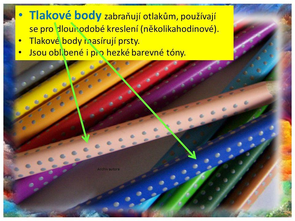 ©c.zuk Tlakové body zabraňují otlakům, používají se pro dlouhodobé kreslení (několikahodinové).