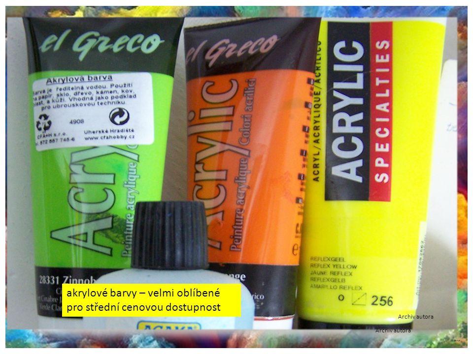 ©c.zuk Speciální akrylové barvy Značkové nebo speciální akrylové barvy se používají i na jiné techniky (na textil, plakáty nebo airbrush). Velmi dobře