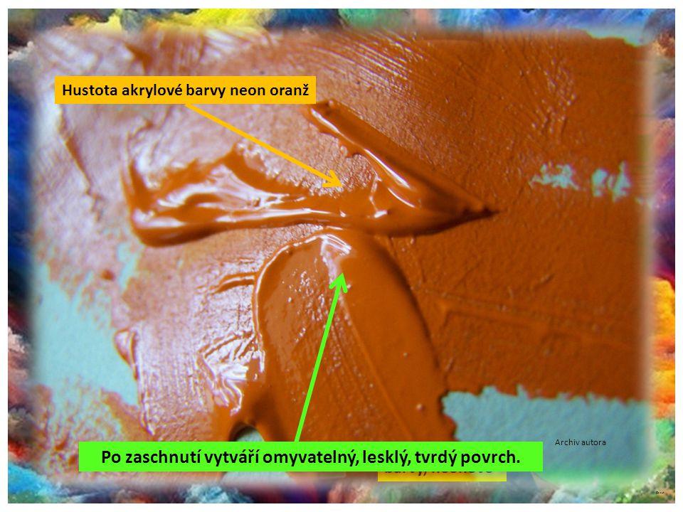 ©c.zuk Holandská neonová barva České plakátové barvy, neonové Archiv autora Barvy speciální, dražší, mají hustější konzistenci. Jsou výborné pro malbu