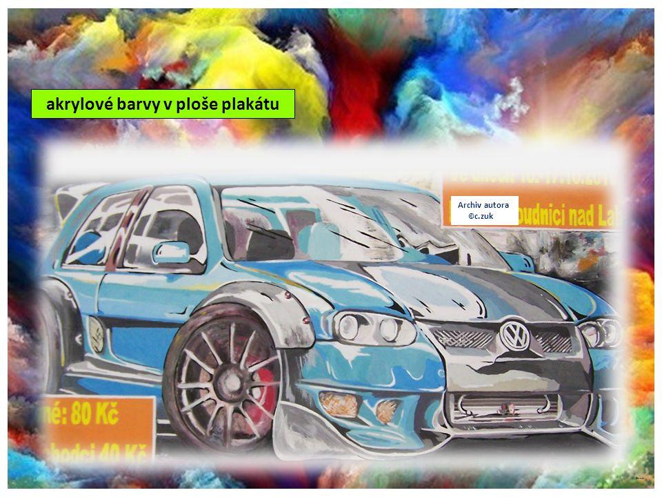 ©c.zuk akrylové barvy v ploše plakátu Archiv autora © c.zuk
