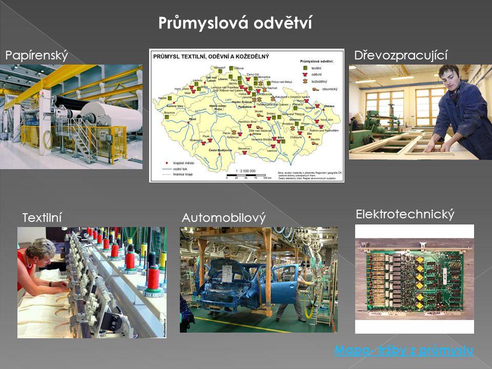3.ZPRACOVATELSKÝ PRŮMYSL Zpracovává různé suroviny a polotovary. Vyrábí množství nejrůznějších výrobků Zpracovatelský průmysl v ČR