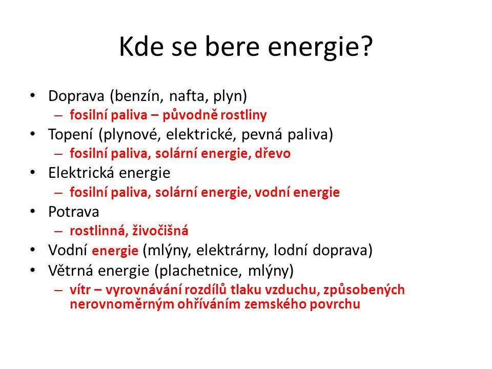 Kde se bere energie.