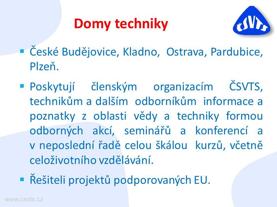  České Budějovice, Kladno, Ostrava, Pardubice, Plzeň.