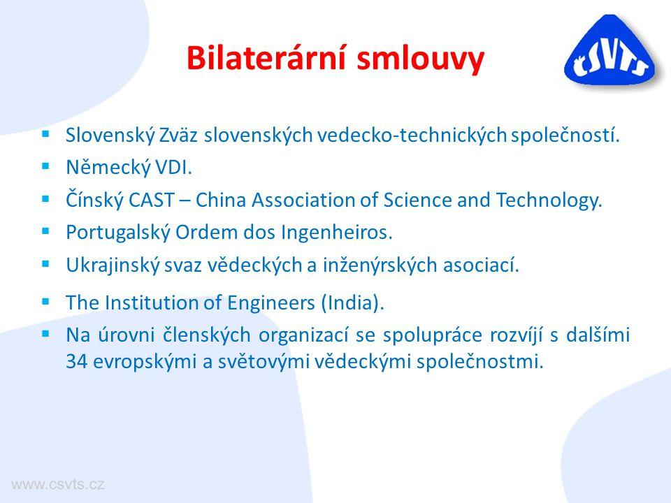 Bilaterární smlouvy  Slovenský Zväz slovenských vedecko-technických společností.