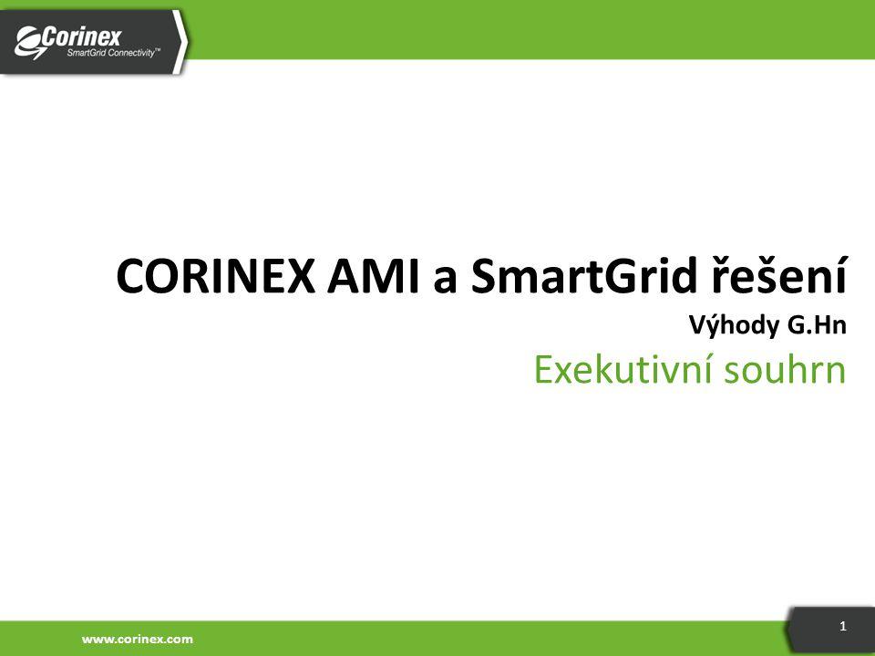 www.corinex.com 1 CORINEX AMI a SmartGrid řešení Výhody G.Hn Exekutivní souhrn