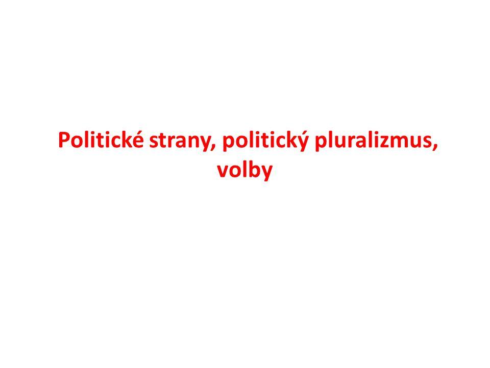 Politické strany, politický pluralizmus, volby