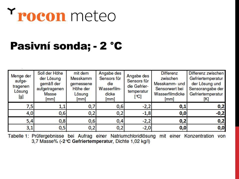 Pasivní sonda; - 2 °C