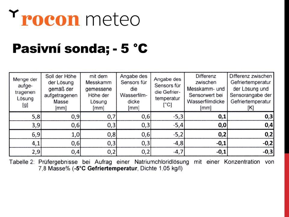 Pasivní sonda; - 5 °C