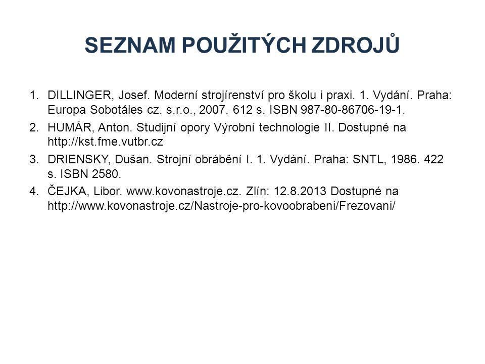 1.DILLINGER, Josef.Moderní strojírenství pro školu i praxi.